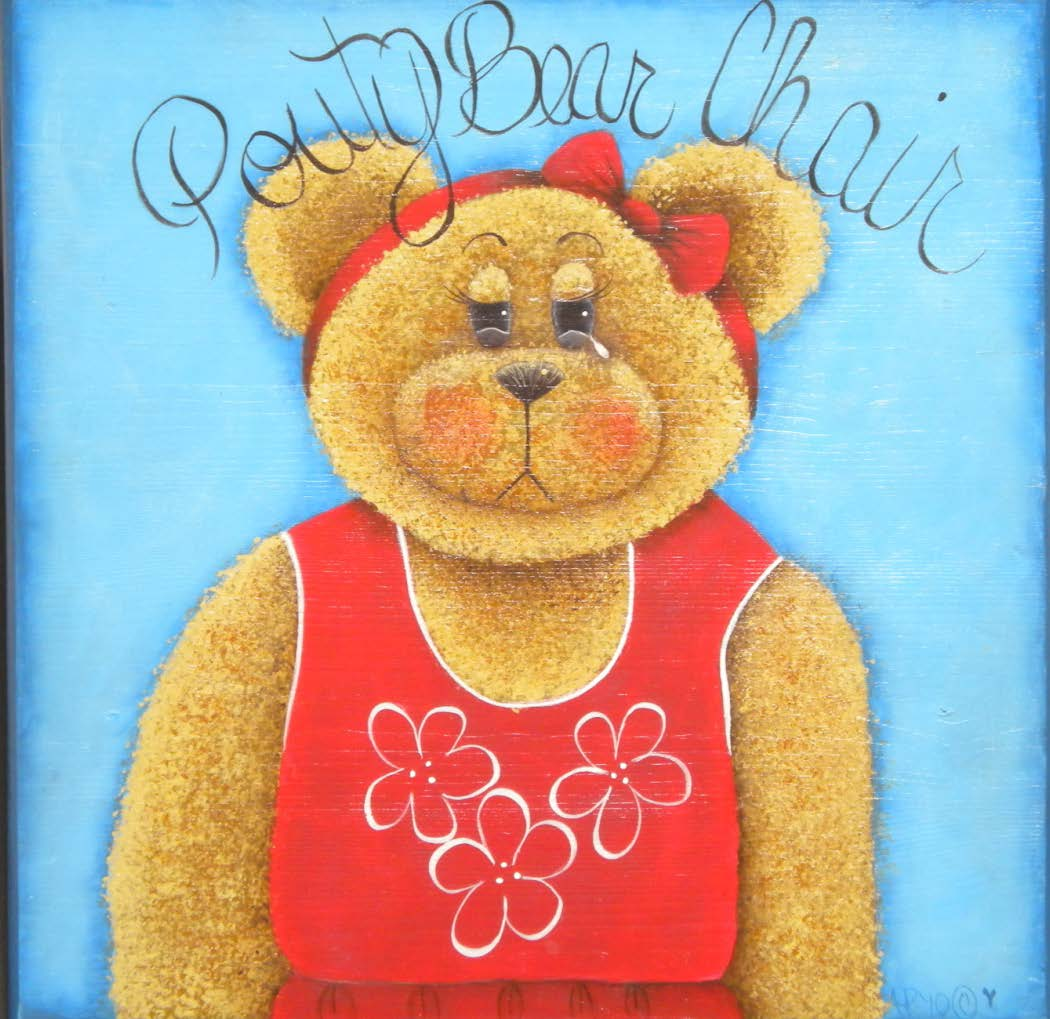 Pouty Girl Bear Chair - E-Packet - Ann Perz