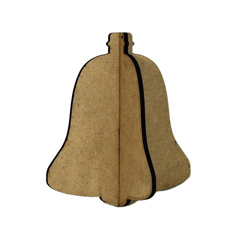 3D Wood Ornament - Bell