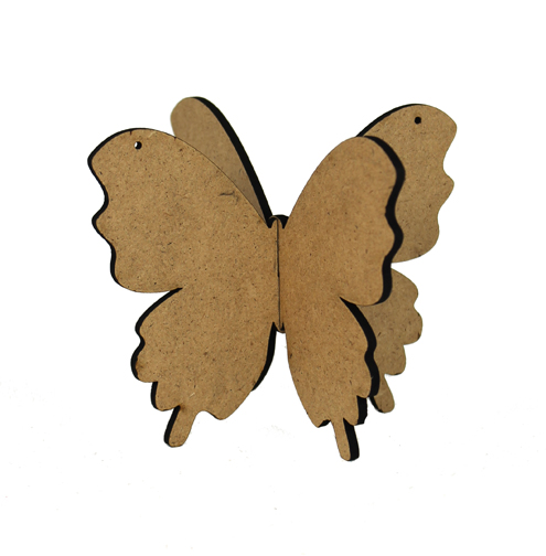 3D Wood Ornament - Butterfly
