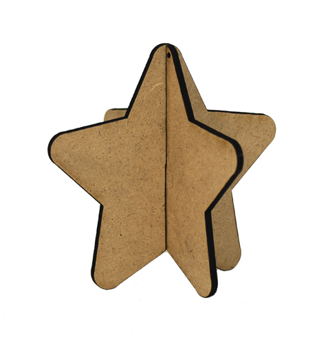 3D Wood Ornament - Star
