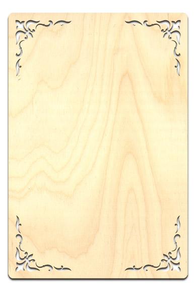 """Fleur De Lis Corner Plaque - Rectangle 9 3/4"""" x 14 7/16"""""""