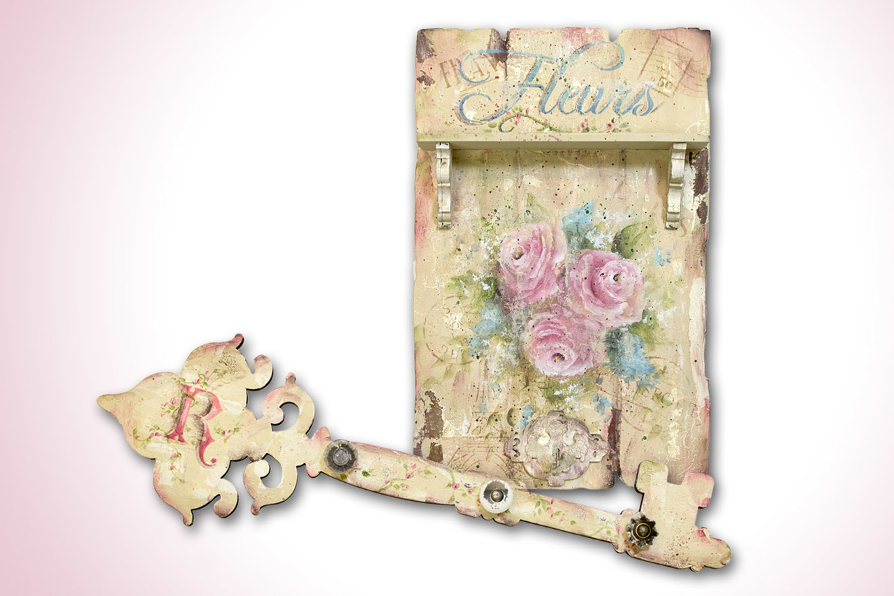 French Fleurs Rustic Chic Roses Pattern Packet