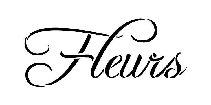 "Word Stencil - Fleurs - 8"" x 4"""