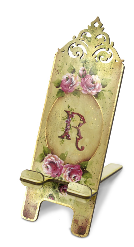 Monogrammed Rose Smartphone Stand Pattern Packet