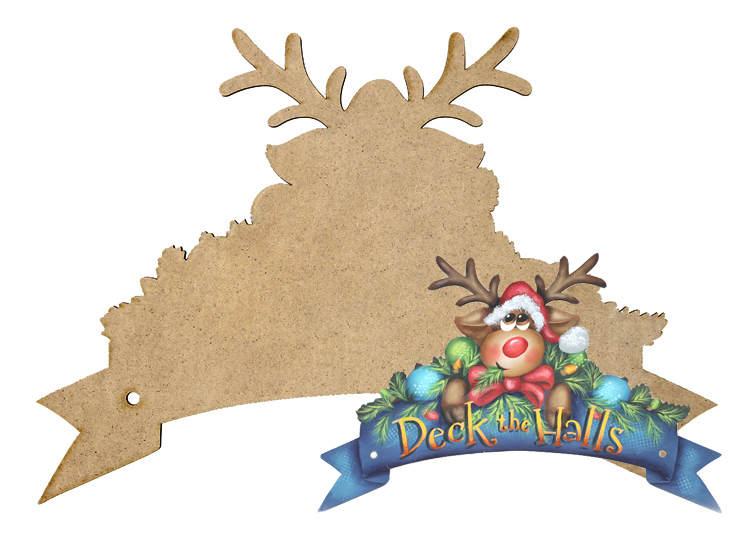 Deck the Halls Wreath Banner
