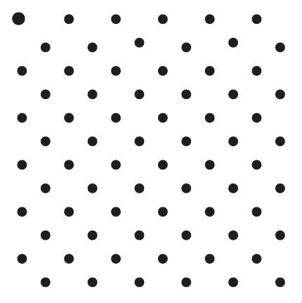 """3/16"""" Dots - Pattern Stencil - 6"""" x 6"""""""