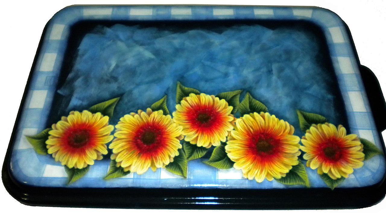 Daisies & Plaid Ribbon - E-Packet - Ann Perz