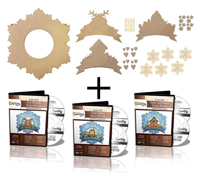 Winter Wreath Deluxe Project Surface Set + 3 DVD Combo
