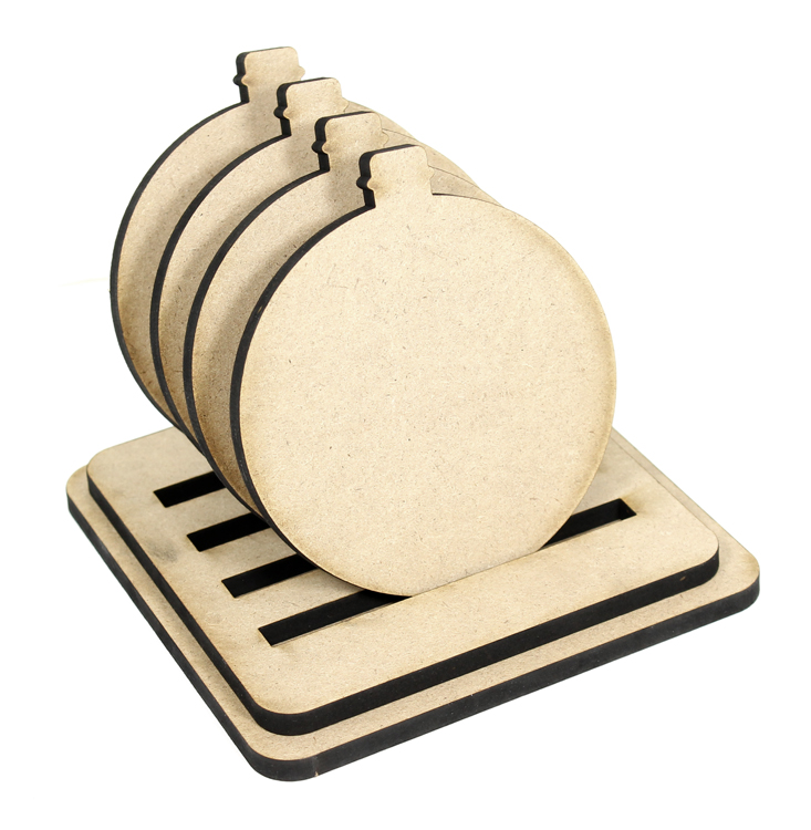Ornament Coasters - Set of 4 with Base