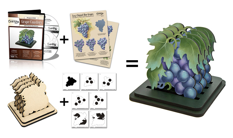 Grape Coaster Set Deluxe Set