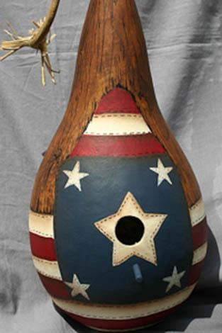 Patriotic Birdhouse - E-Packet - Debra Welty