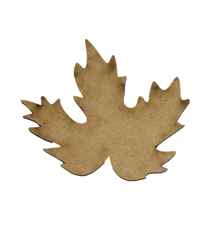 "Fall Leaf Wood Embellishment - 3.75"" x 3.75"""