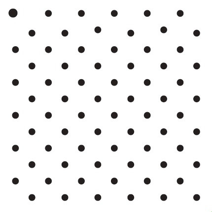 """3/16"""" Dots - Pattern Stencil - 12"""" x 12"""""""