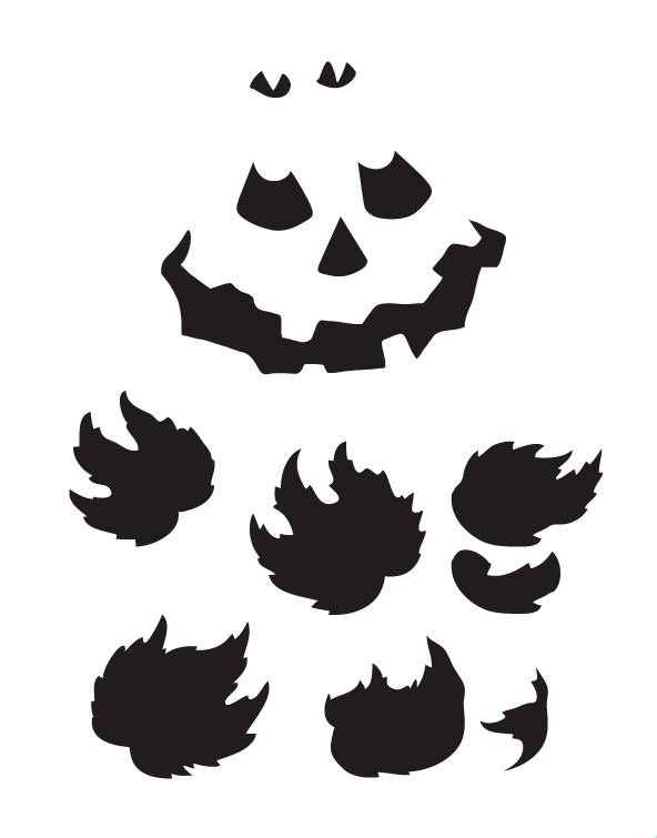 "Pumpkin Faces and Leaves - Art Stencil - 11"" x 14"""
