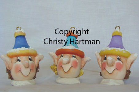 Santa's Helpers Sculpted Ornaments - E-Packet - Christy Hartman