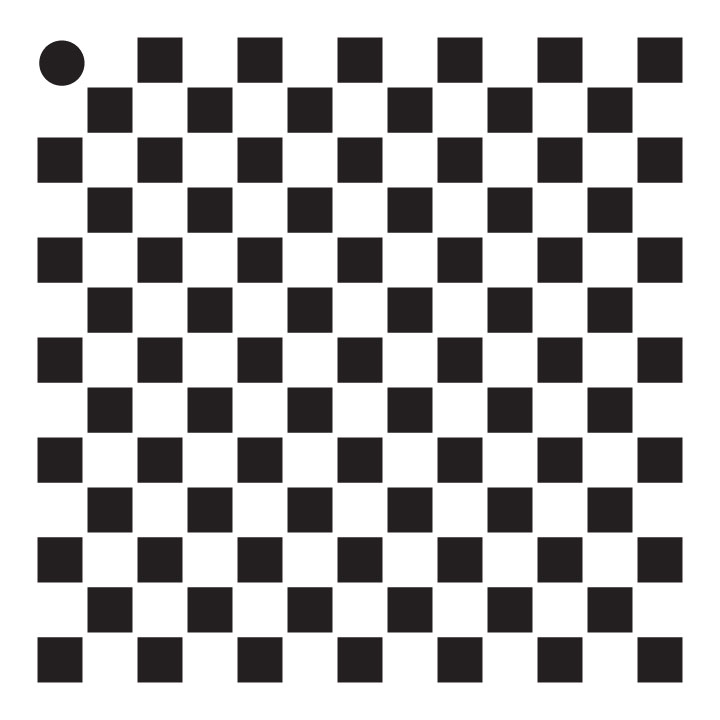 "1/4"" Checks Mini Pattern Stencil - 4"" x 4"""