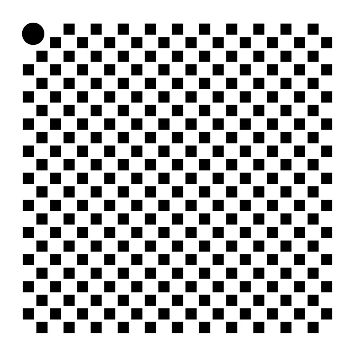 "1/8"" Checks Mini Pattern Stencil - 4"" x 4"""