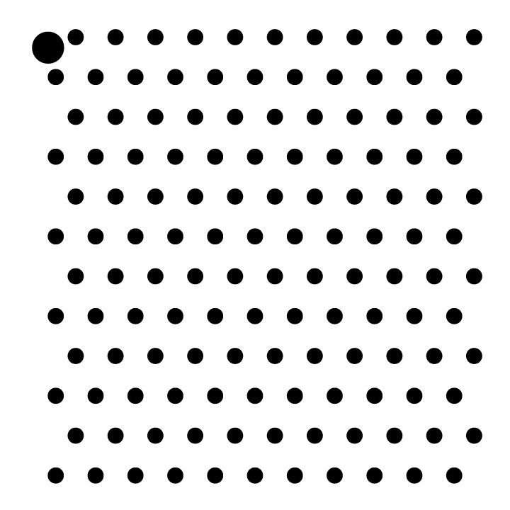 "1/8"" Dots Mini Pattern Stencil - 4"" x 4"""