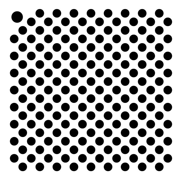 "3/16"" Tight Dots Mini Pattern Stencil - 4"" x 4"""