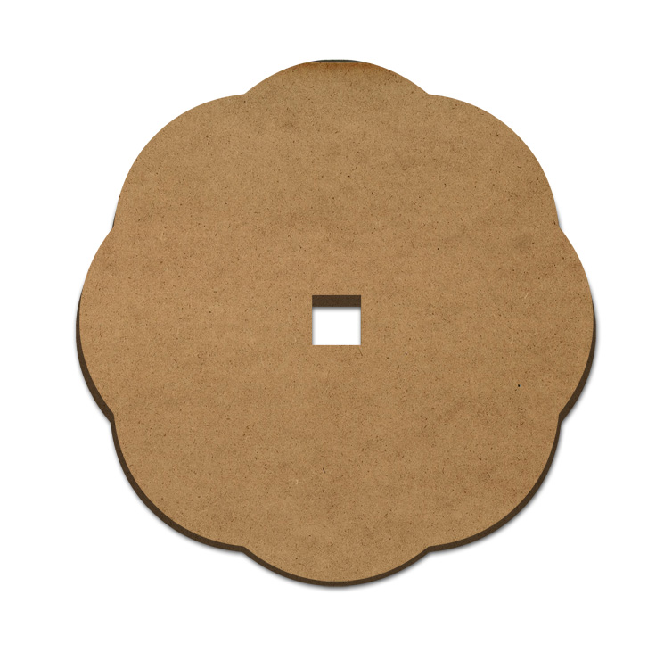 Scalloped Lazy Susan - Old Style - With Square Hole