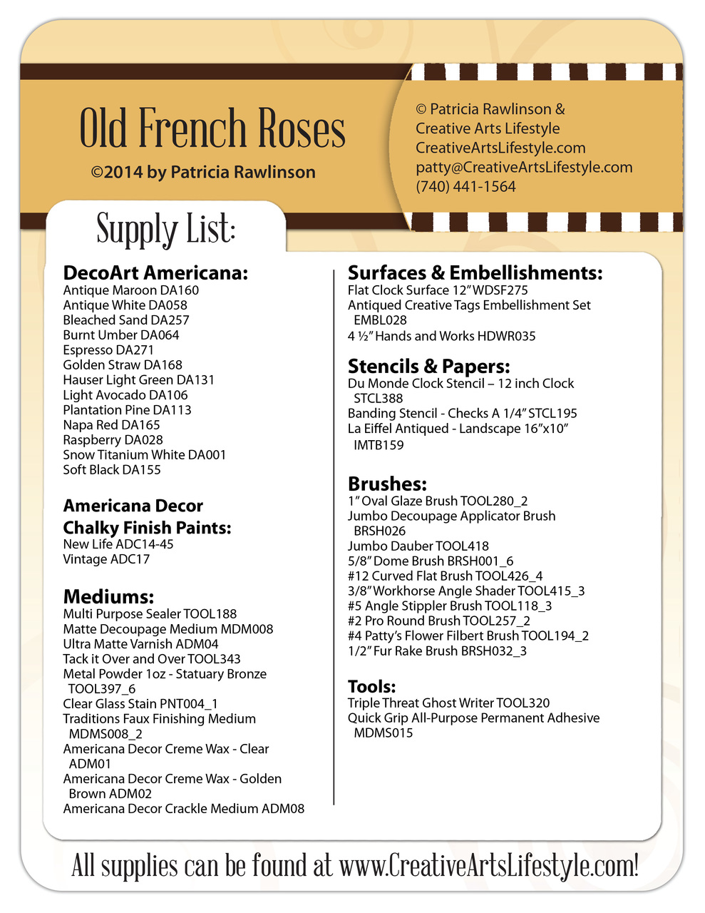 Old French Roses Clock DVD by Patricia Rawlinson