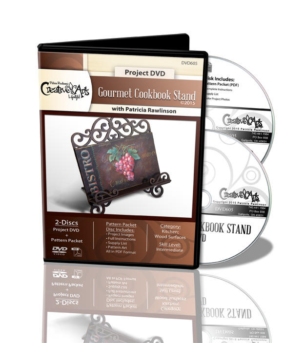 Gourmet Cookbook Stand DVD - Patricia Rawlinson