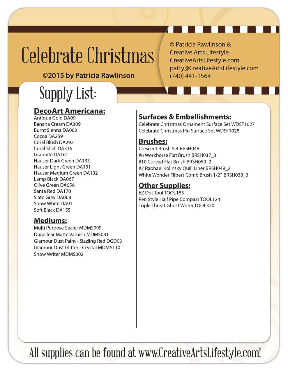 Celebrate Christmas DVD - Patricia Rawlinson