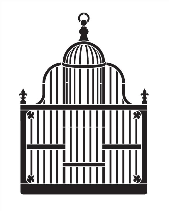 """Victorian Birdcage - Art Stencil - 8"""" x 10"""""""