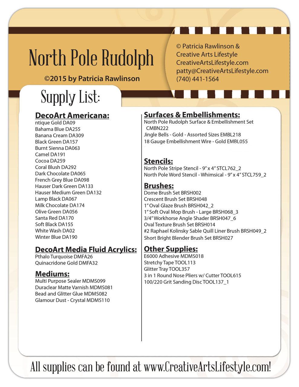 North Pole Rudolph DVD - Patricia Rawlinson