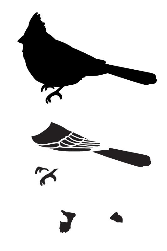 "Cardinal Layered Art Stencil - Profile - 6"" x 9"""