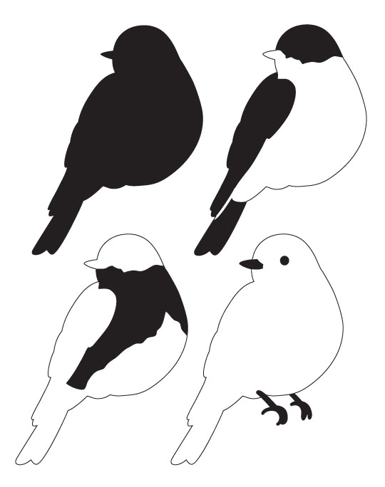 "Eastern Bluebird Layered Art Stencil - Head Turned - 7-1/2"" x 9-1/2"""
