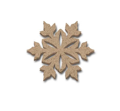 "Snowflake Embellishment - 1 3/4"" x 1 1/2"""