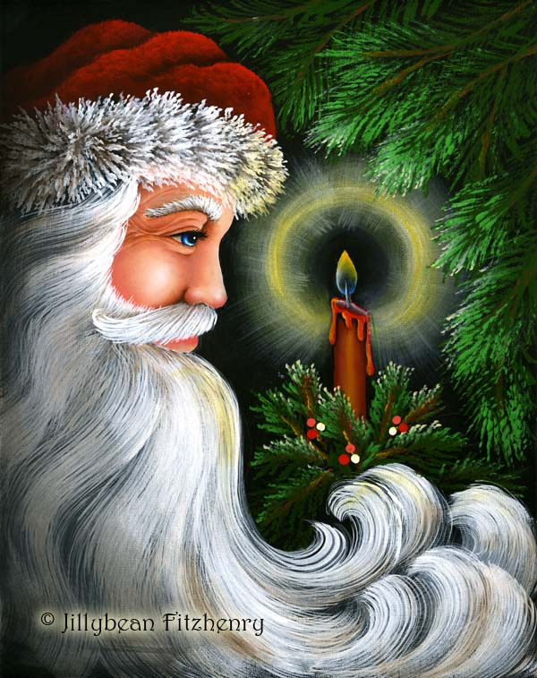 Candle Glow Santa - E-Packet - Jill Fitzhenry