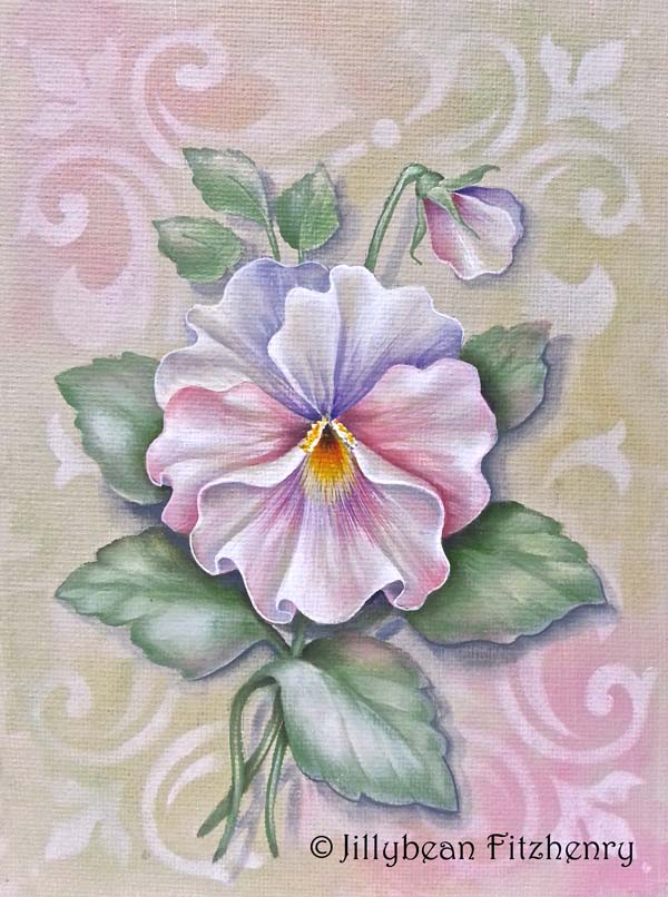 Vintage Pansy - E-Packet - Jill Fitzhenry