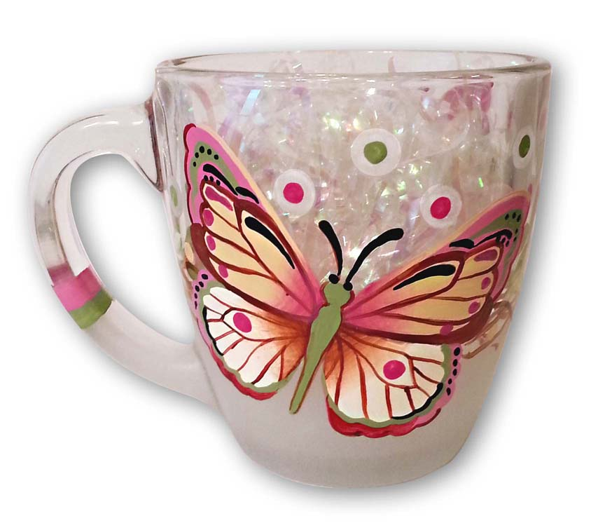 Butterfly Coffee Cup - E-Packet - Jill Fitzhenry