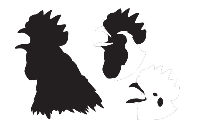 Rooster Head Layered Art Stencil