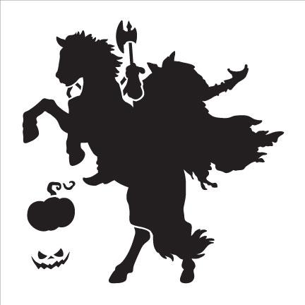 headless horseman art stencil 6 x6 rh creativeartslifestyle com