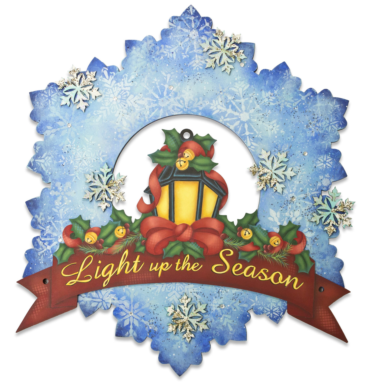 Light Up The Season Wreath - E-Packet - Jeanne Bobish