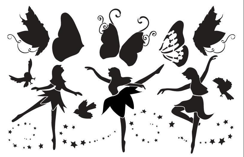 """Fairy Dance Art Stencil - 11"""" x 17"""""""
