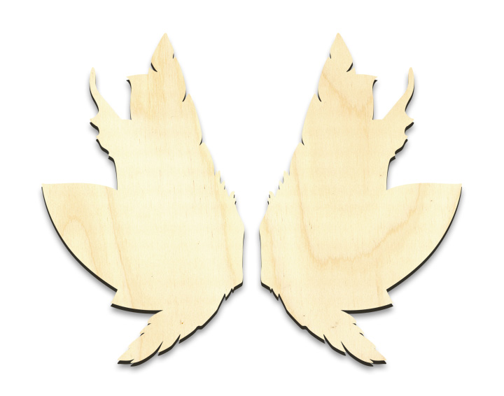 "Feathery Leaves Fairy Wing Set - Small - 2-1/2"" x 4"" Each"