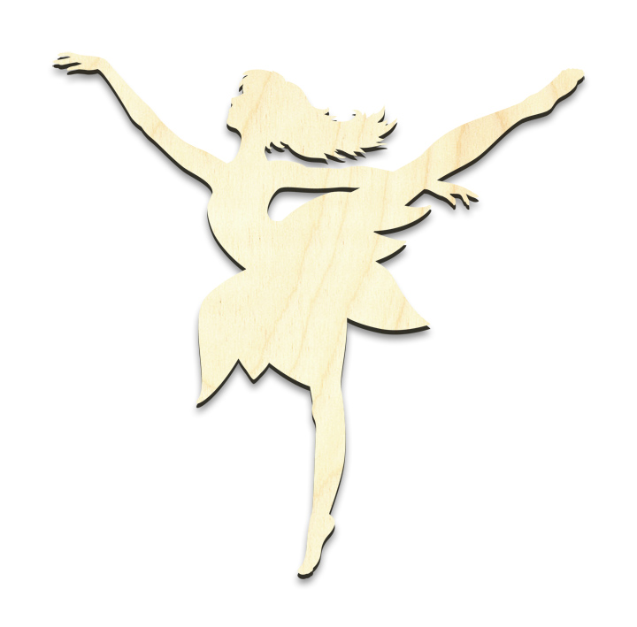 "Dancing Fairy Figure Surface - Small - 5-1/4"" x 5-1/4"""