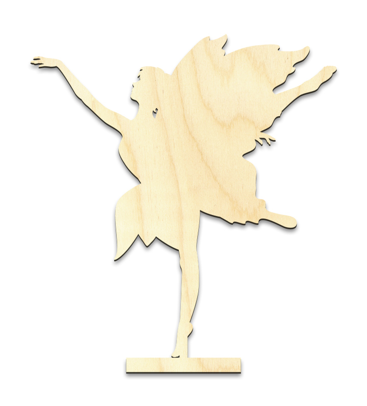 "Dancing Fairy Figure Standing Surface w/ Wings - Small - 5-1/4"" x 5-7/8"""