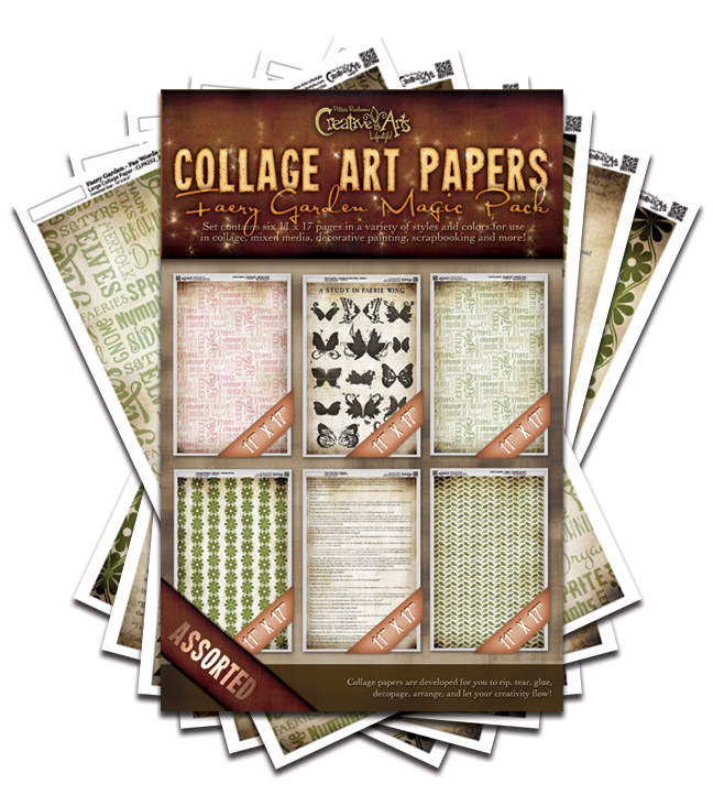 Faery Garden Collage Paper Magic Pack