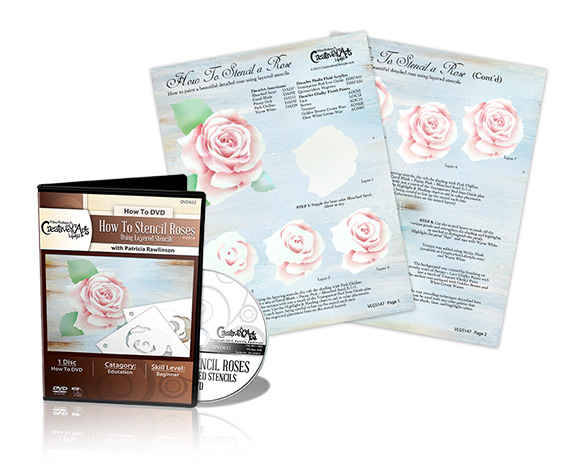 How To Stencil Roses DVD & VLG Worksheet Set