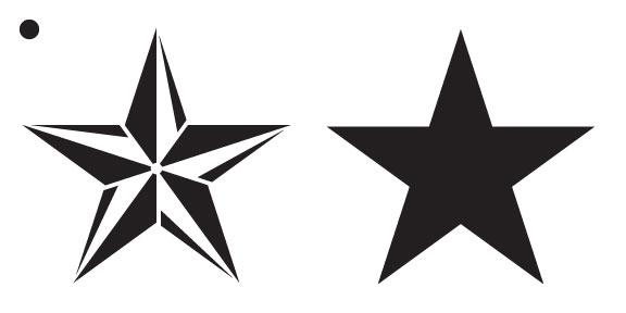 "Barn Star Stencil - 3-1/4"" (8"" x 4"")"