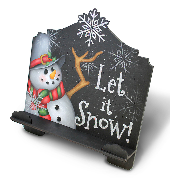 Let It Snow Cookbook Stand DVD and Pattern Packet - Patricia Rawlinson
