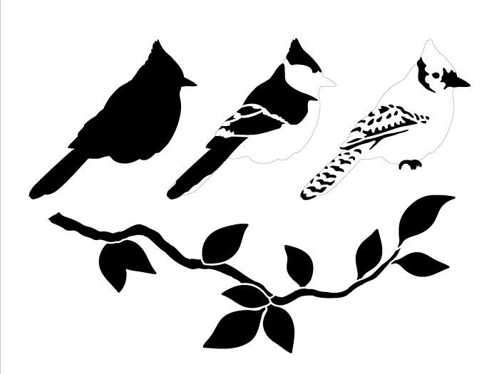 "Blue Jay Layered Coaster Art Stencil - 8"" x 6"""