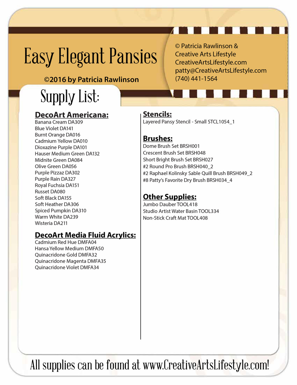 Easy Elegant Pansies DVD and Pattern Packet - Patricia Rawlinson