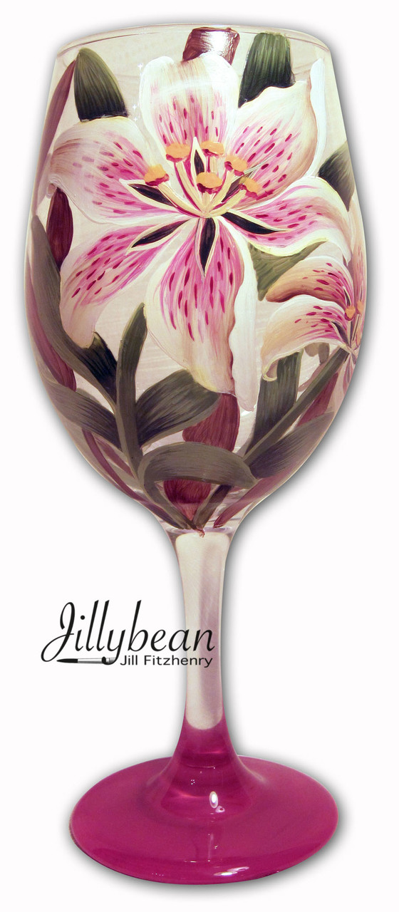 Lily Wine Glass - E-Packet - Jill Fitzhenry
