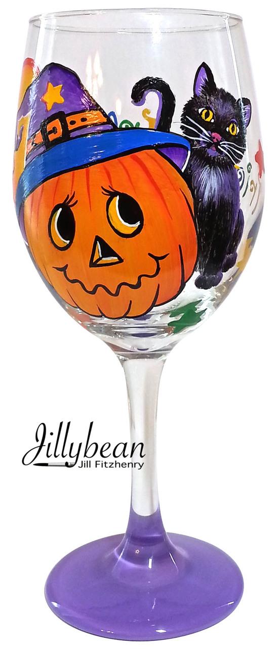 Pumpkin Trick or Treat Glass - E-Packet - Jill Fitzhenry
